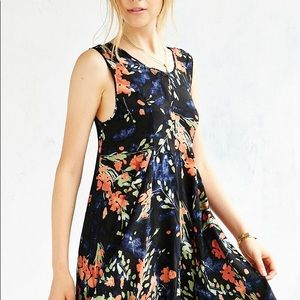 Ecote Urban Outfitters Clary Godet Trapeze Dress